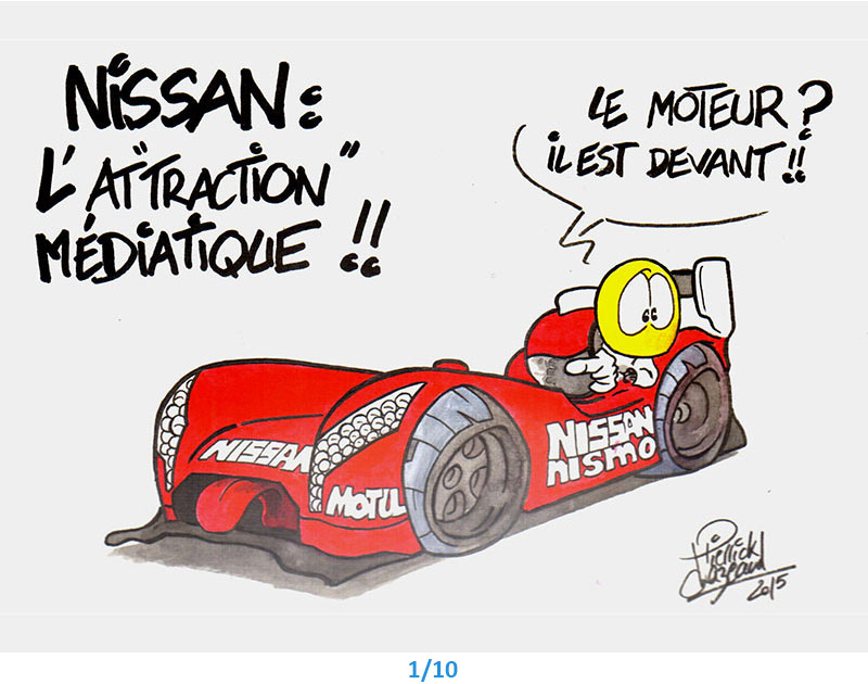 illustrations nissan 24h du Mans Pierrick Chazeaud