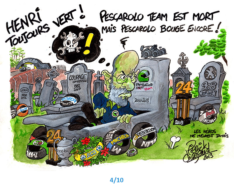illustrations henri Pescarolo 24h du Mans Pierrick Chazeaud