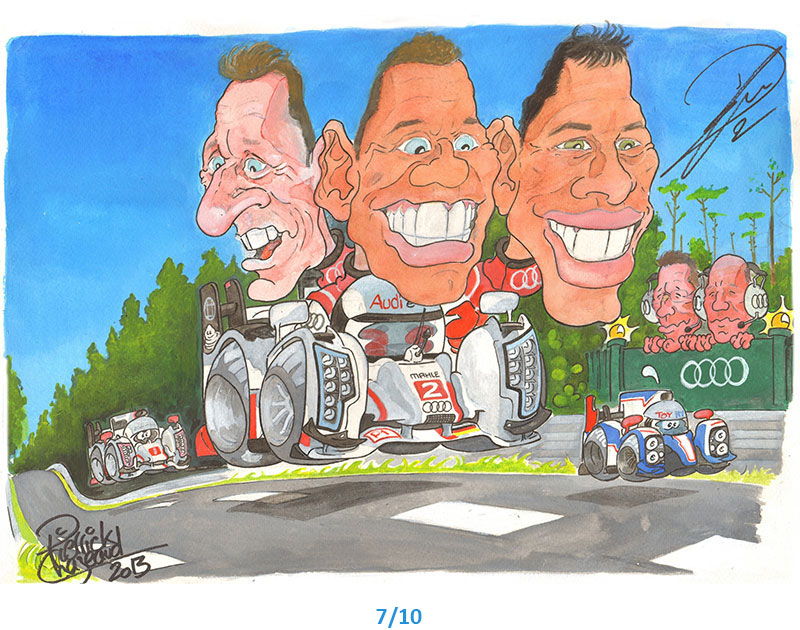 illustrations audi 24h du Mans Pierrick Chazeaud