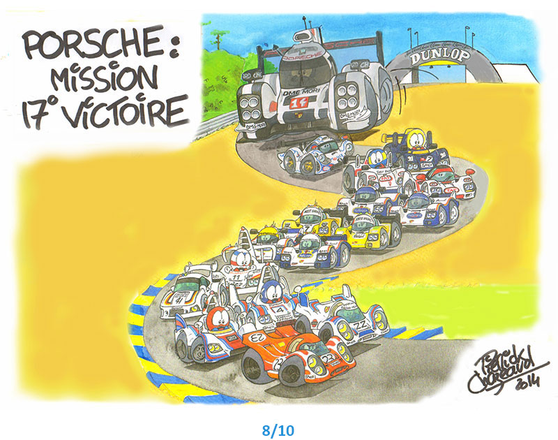 illustrations porsche 24h du Mans Pierrick Chazeaud