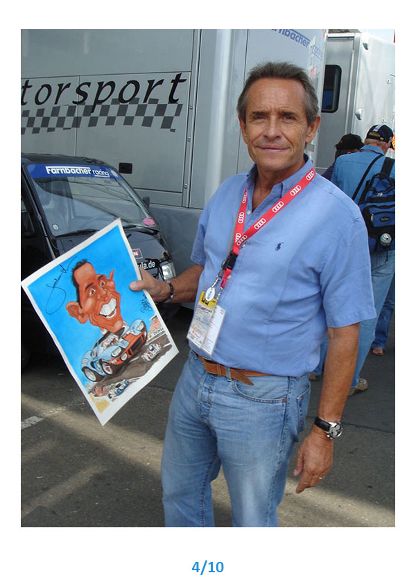 caricature Jacky Ickx Pierrick Chazeaud